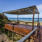 Private beach access and gazebo